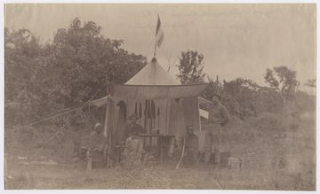 1887 - Hans Meyer Expedition, Lager in Marangu, Elbrecht von Eberstein, Mareale, Hans Meyer